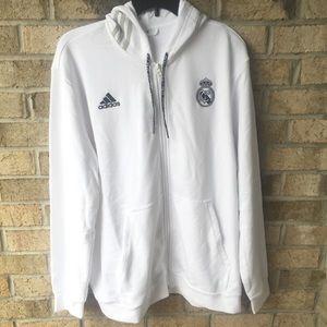 Adidas Men's Real Madrid Full Zip Hoodie
